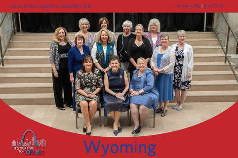 General Federation of Women's Clubs of Wyoming group shot 2018